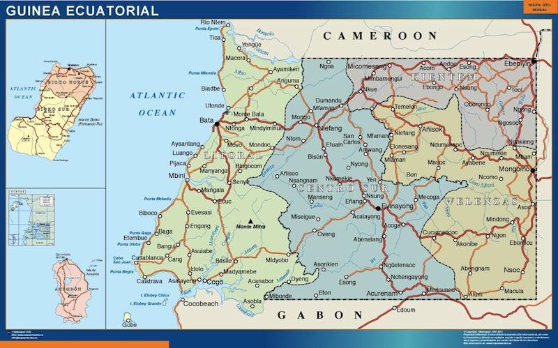 carte murale guinee equatoriale