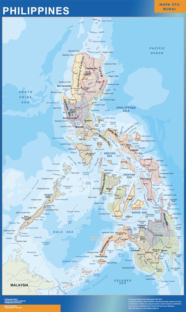 carte murale philippines