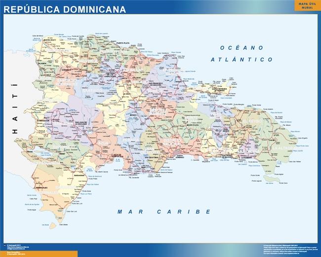 carte murale republique dominicaine
