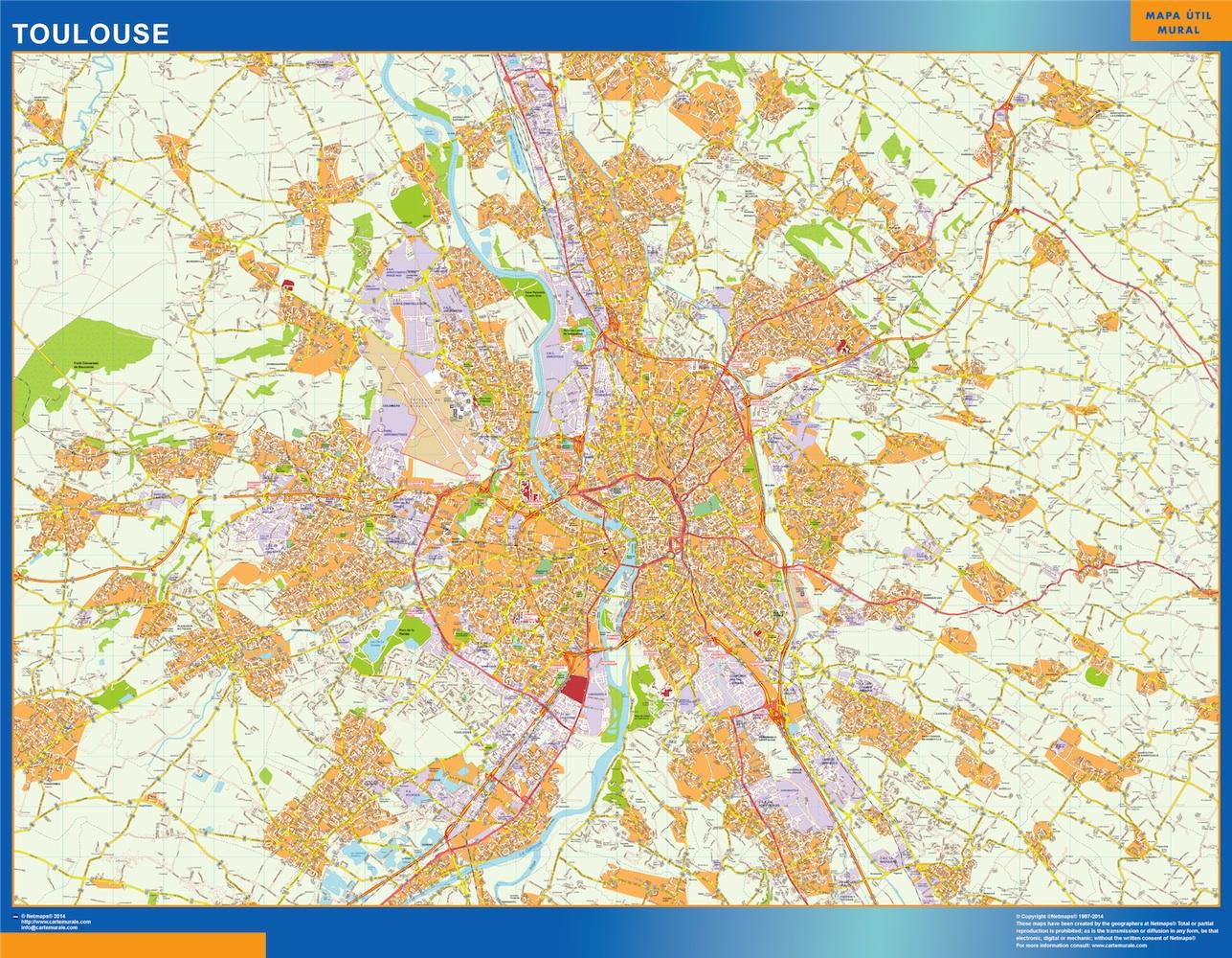 Plan des rues Toulouse
