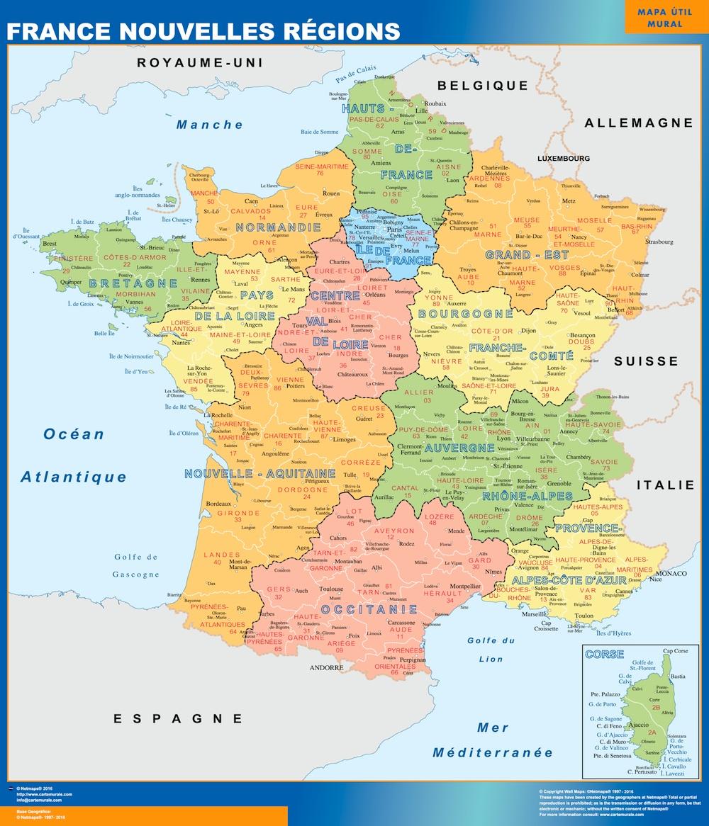 Carte France Nouvelles Règions