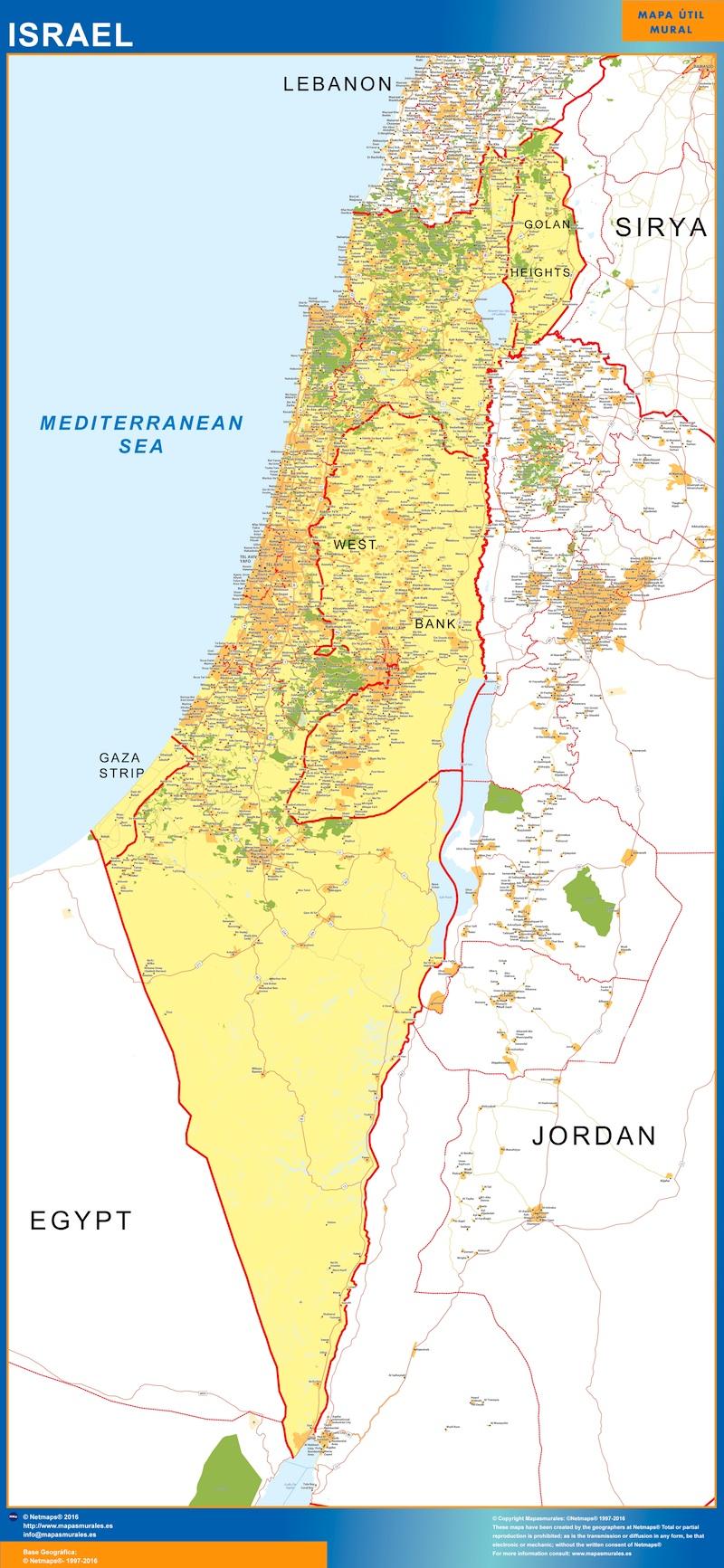 Carte Israel