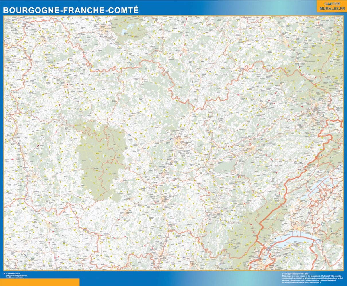 Carte Region Bourgogne Franche Comte