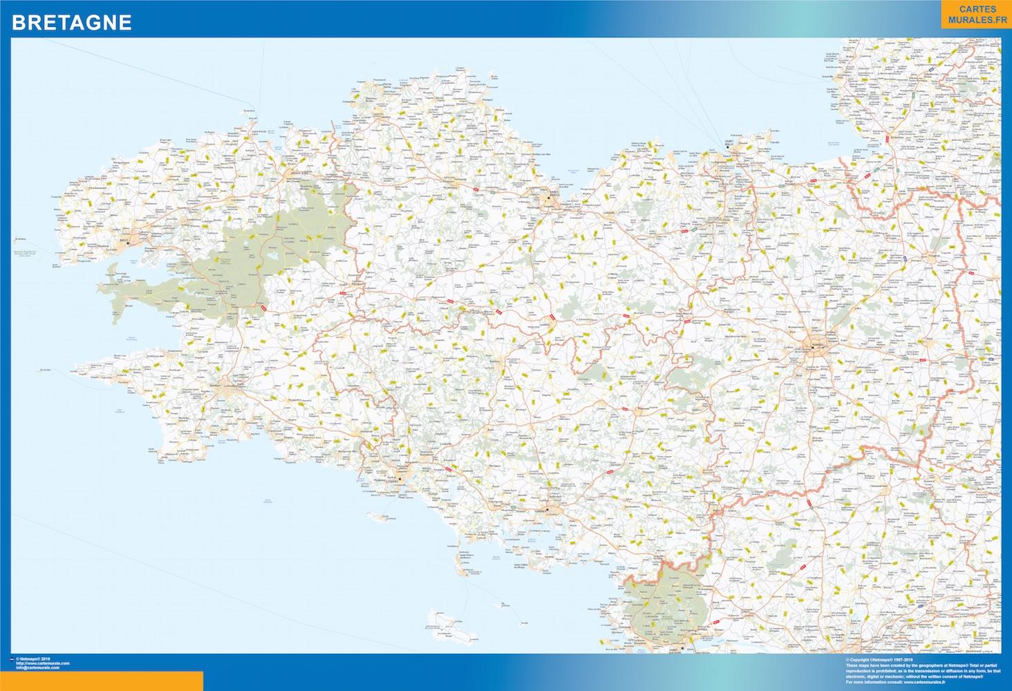 Carte Region Bretagne