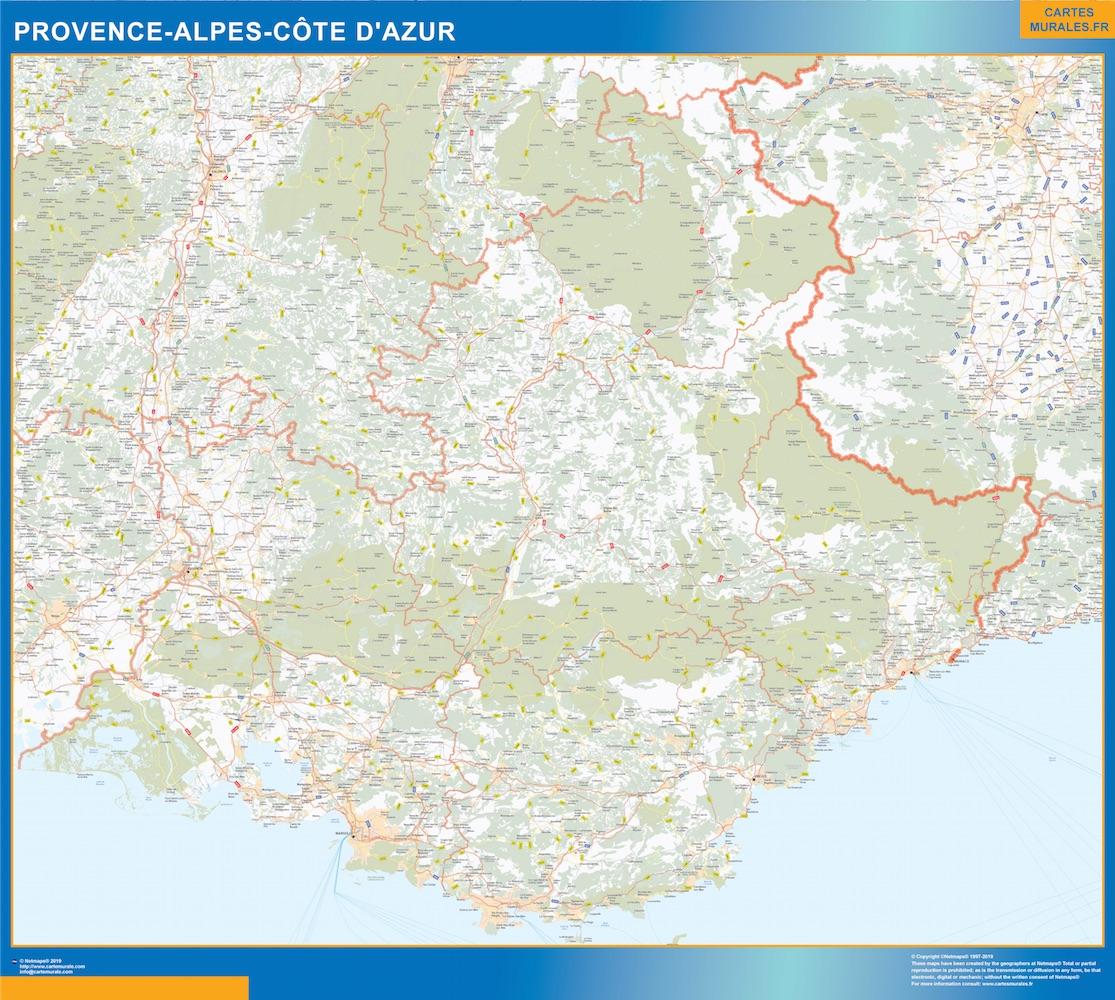 Carte Region Provence-alpes cote azur