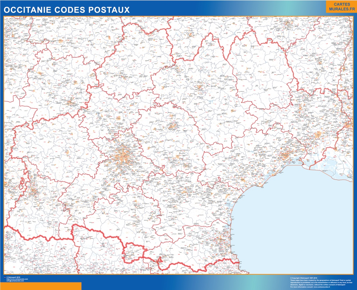 Region OccitanIe codes postaux