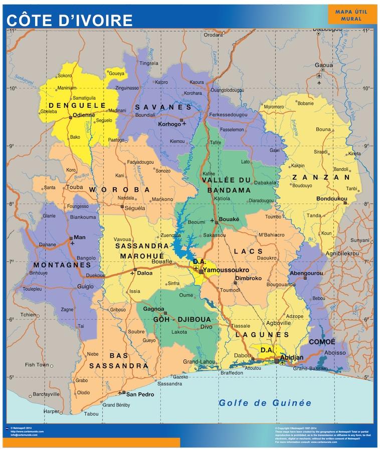 Carte Cote Ivoire