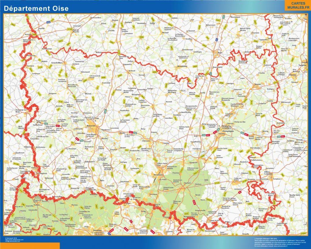 Carte departement Oise