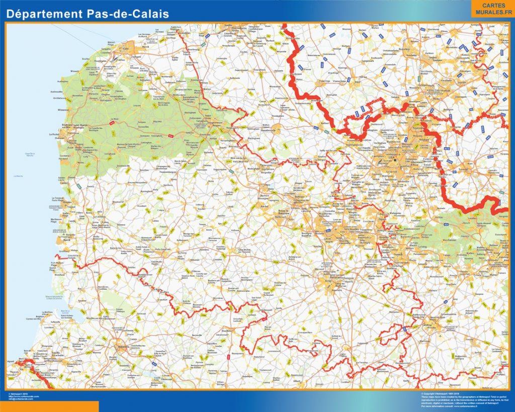 Carte departement Pas de Calais