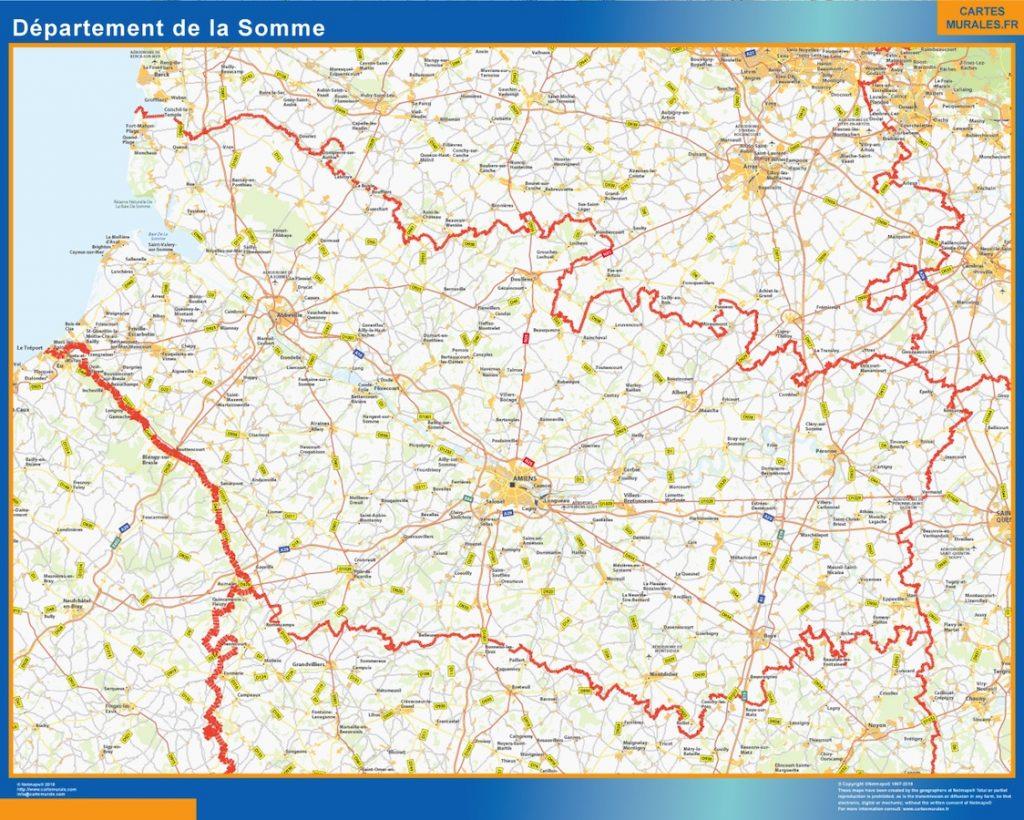 Carte departement Somme