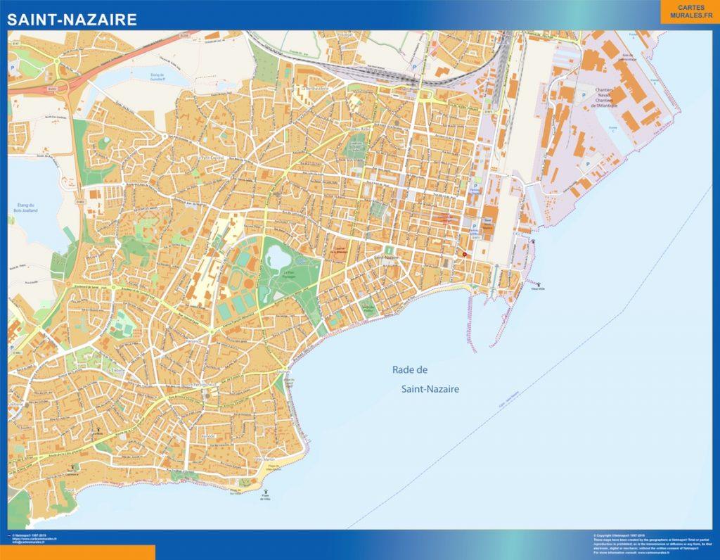 Carte Saint Nazaire